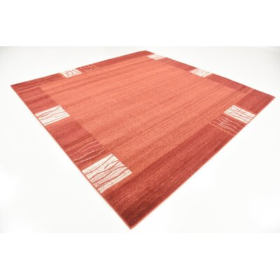 Christi Red Area Rug Rug Size: Square 8