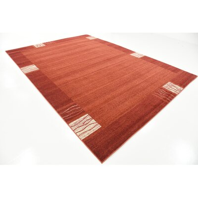Christi Red Area Rug Rug Size: Rectangle 8 x 114