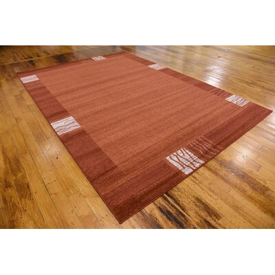Christi Red Area Rug Rug Size: Rectangle 7 x 10