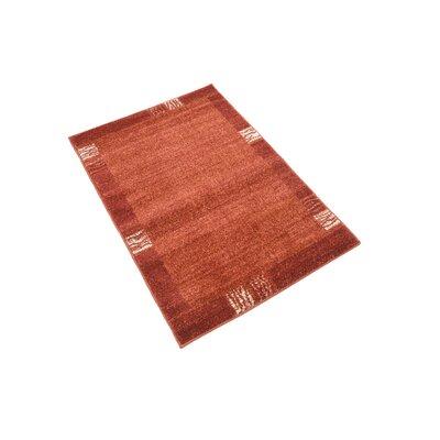 Christi Red Area Rug Rug Size: Rectangle 22 x 3