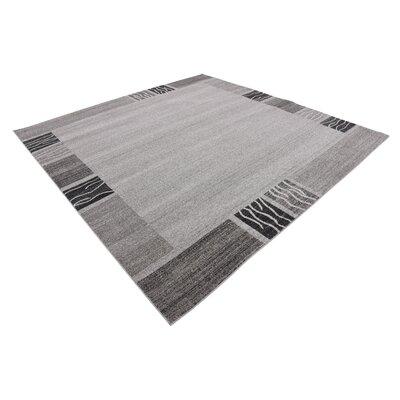 Christi Gray Solid Area Rug Rug Size: Square 8