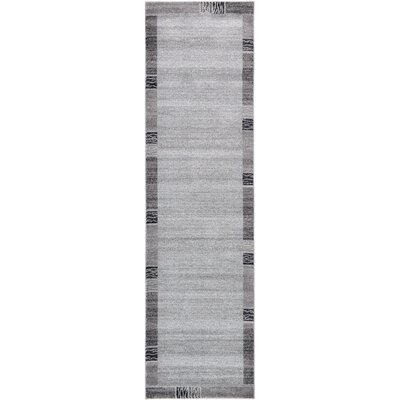 Christi Gray Solid Area Rug Rug Size: Runner 27 x 10