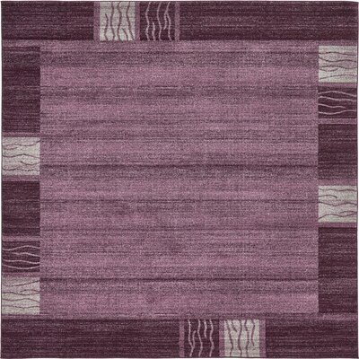 Christi Purple Area Rug Rug Size: Square 8