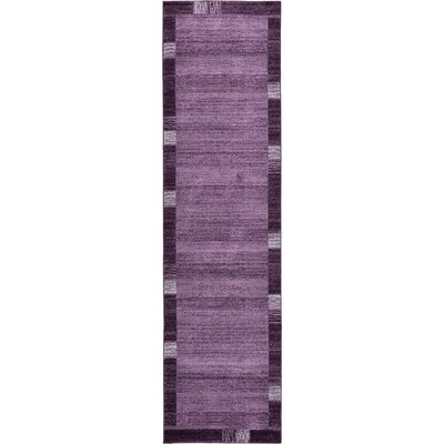 Christi Purple Area Rug Rug Size: Runner 3 x 10