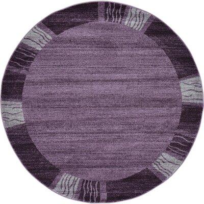 Christi Purple Area Rug Rug Size: Round 6