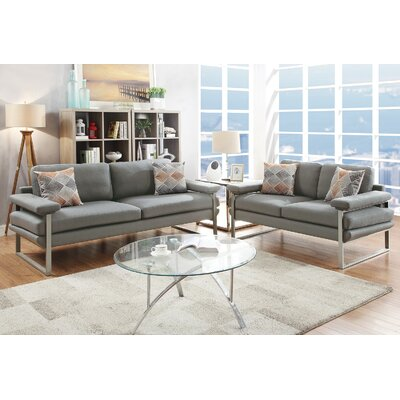 Kraker 2 Piece Living Room Set Upholstery: Gray