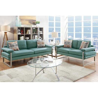 Kraker 2 Piece Living Room Set Upholstery: Laguna