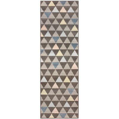 Kendra Pastel Aztec Gray Area Rug Rug Size: Runner 27 x 8