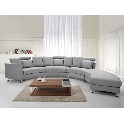 Hiep Round Modular Sectional Upholstery: Light Gray