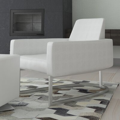 Antone Leisure Armchair Upholstery: White
