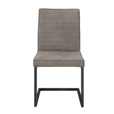 Novak Luxury Upholstered Dining Chair Color: Dark Gray