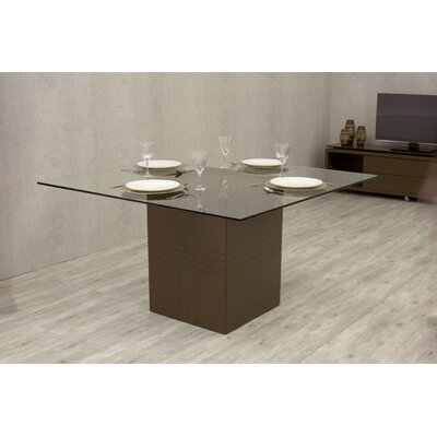 Bourgeois Square Dining Table Finish: Nut Brown