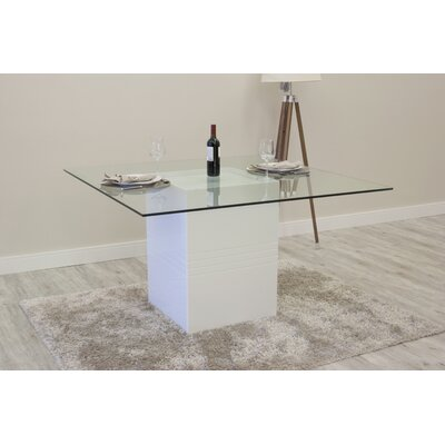 Bourgeois Square Dining Table Finish: White Gloss