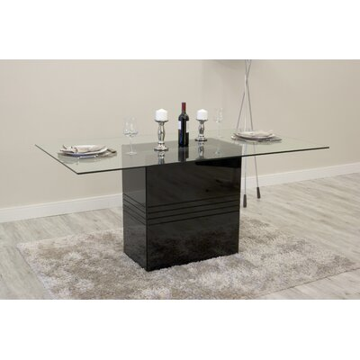 Bourgeois Dining Table Finish: Black Gloss