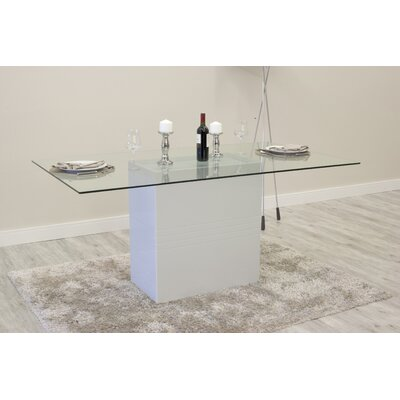 Bourgeois Dining Table Finish: Off-White