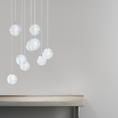 Sinechra Spheres 9-Light Crystal Chandelier
