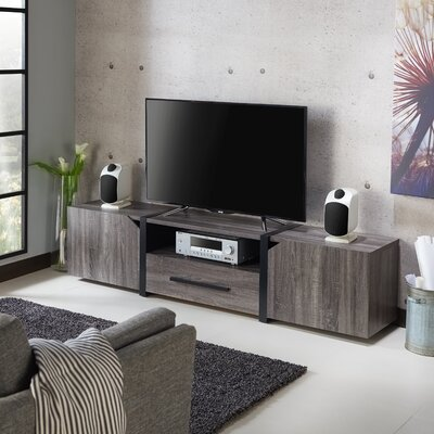Quaniece Contemporary 81.5 TV Stand Color: Dark Gray/Black