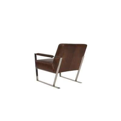 Irvin Top Grain Contemporary Armchair
