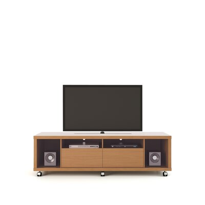 71 Newburyport Wooden TV Stand Color: Maple Cream/Off White