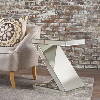 Anrielle Mirrored End Table