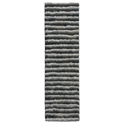 Chiana Hand-Tufted Graphite Area Rug Rug Size: Runner 23 x 8