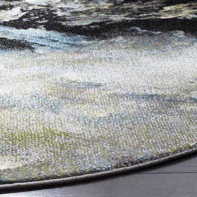 Leighton Blue Area Rug Rug Size: Rectangle 53 x 76