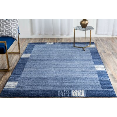 Christi Light Blue Area Rug Rug Size: Round 8