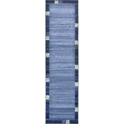 Christi Light Blue Area Rug Rug Size: Runner 27 x 10