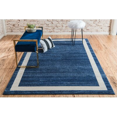 Christi Blue/Beige Area Rug Rug Size: Rectangle 7 x 10