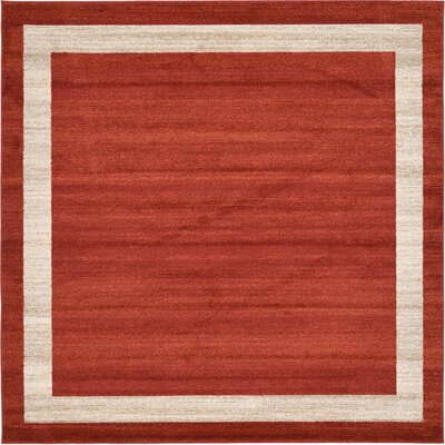 Christi Red/Beige Area Rug Rug Size: Square 8