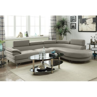 Longworth Sectional Upholstery: Light Gray