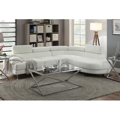 Longworth Sectional Upholstery: White