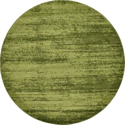 Christi Green Area Rug Rug Size: Round 8