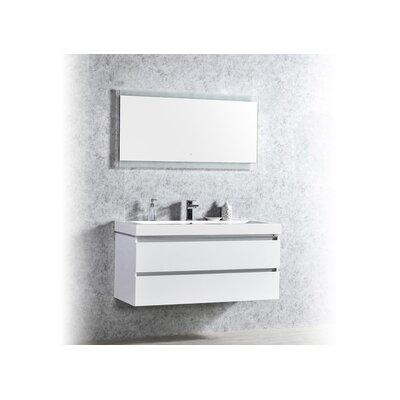 Pegram 48 Single Sink Bathroom Vanity Set Base Finish: White