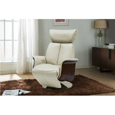 Mcclaine Leather Power Swivel Recliner