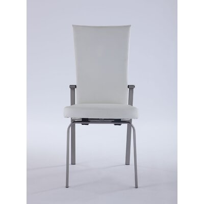 Sinegal Upholstered Dining Chair (Set of 2) Upholstery Color: White