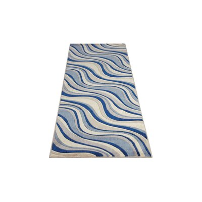 Cherell Ivory/Blue Area Rug Rug Size: Runner 23 x 10