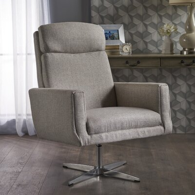 Reiter Swivel Armchair Upholstery: Beige