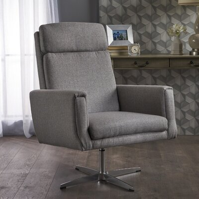 Reiter Swivel Armchair Upholstery: Gray