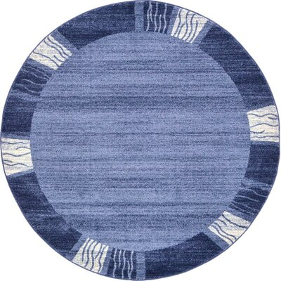 Christi Light Blue Area Rug Rug Size: Round 6