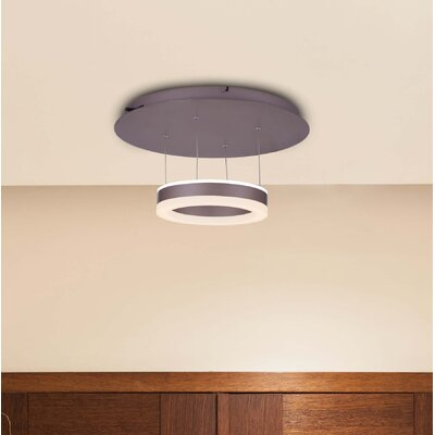 Evelyn White Color-Changing LED 1-Light Semi Flush Mount