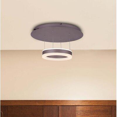 Evelyn White Color-Changing LED 1-Light Semi Flush Mount
