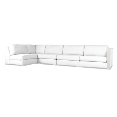 Steffi Left L-Shape Sectional Upholstery: White