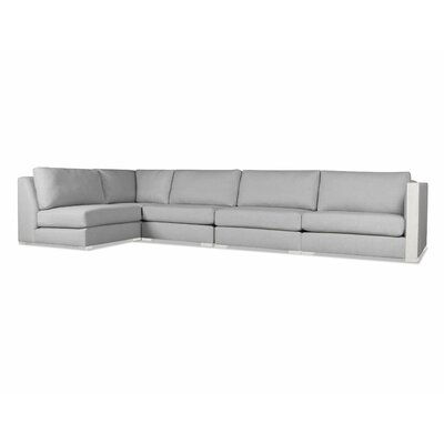 Steffi Left L-Shape Sectional Upholstery: Gray