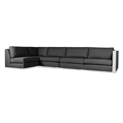 Steffi Left L-Shape Sectional Upholstery: Charcoal