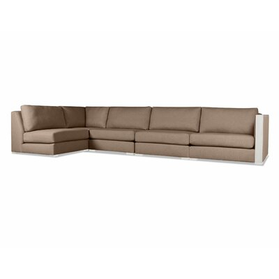 Steffi Left L-Shape Sectional Upholstery: Brown