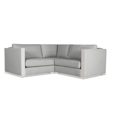 Steffi Solid Right and Left Arms L-Shape Modular Sectiona Upholstery: Gray