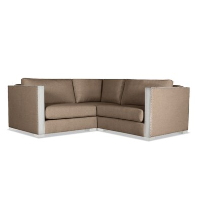 Steffi Solid Right and Left Arms L-Shape Modular Sectiona Upholstery: Brown