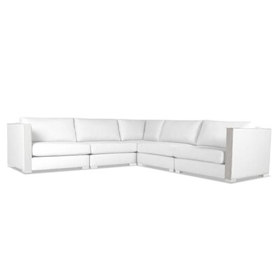 Steffi Right and Left Arms L-Shape Sectional Upholstery: White