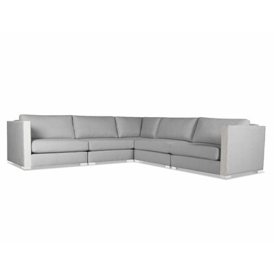 Steffi Right and Left Arms L-Shape Sectional Upholstery: Gray
